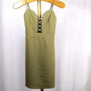 Pretty Green Spaghetti Strap Dress